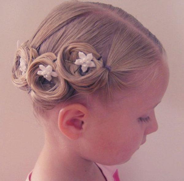 Прически для детей на свадьбу фото на короткие волосы